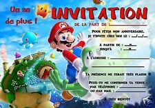 5 ou 12 cartes invitation anniversaire  MARIO ref 294