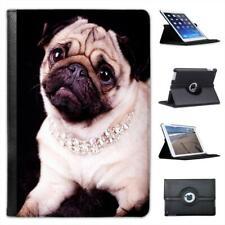Princess Pug Dog Wearing Diamond Necklace Leather Case For iPad Mini & Retina