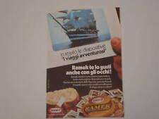 advertising Pubblicità 1976 KRAFT RAMEK