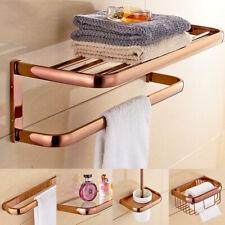 Luxury Rose Gold Bathroom Hardware Set Bath Accessories Towel Bar Tissue Holder