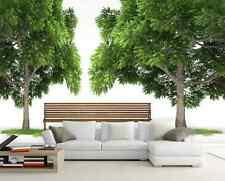3D Mega Green Tree Wood Bench910 Wall Paper Wall Print Decal Wall AJ Wall Paper