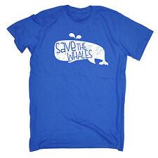 Save The Whales MENS T-SHIRT birthday cute animal cartoon funny