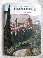 1959 Art-Beauties Of Florence,Pisa,Siena Italy Guide Bk