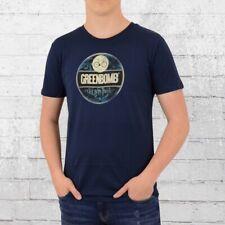 Greenbomb Männer Fahrrad T-Shirt Bike Emblem blau