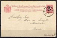 Neth Indies 1909 PC GrootronCANC WLINGI to Kediri
