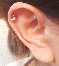 Mickey  Crystal Gem Tragus Helix Bar Cartilage Ear Earring Bone End Tragus Stud