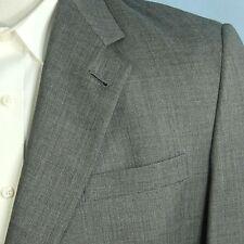 Hart Schaffner Marx 46L Wool Gray Bespoke Custom Blazer Sportcoat Gold Trumpeter