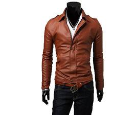 Giacca Giubbotto in Pelle Uomo Men Leather Jacket Veste Blouson Homme Cuir N14e
