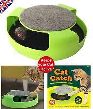 Nouveau chat attrape la souris peluche déménagement jouet griffoir griffe soins tapis pet playtoy-uk