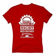 Therapie brauche ich nicht - muss nur nach Norwegen - Herren T-Shirt - Urlaub