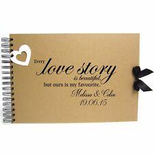 Personalised Kraft Scrapbook A5 A4 Love Story, Photo Album, Keepsake, Guestbook