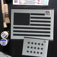 Flag Stencil U.S.A Star Spangled Banner Reusable Art Craft Wall Ideal Stencils