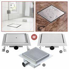 """""""SQUARE"""" umidi doccia in acciaio inossidabile SCARICHI Gully (150 mm o 200 mm) 3 Designs"""