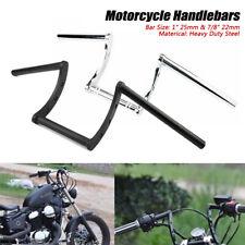"""1'' & 7/8"""" Motorcycle Handlebars Z Bar Drag Bars For Harley Honda Yamaha Suzuki"""