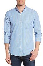 $145 NWT Kenneth Cole Black Label Slim Fit Stripe Sport Shirt