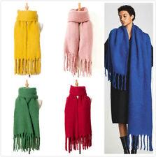 Large Thick Womens Warm Blanket Tassel Scarf Stole Scarves Wool Lady Shawl Wrap