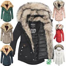 Navahoo Sweety Damen Jacke Mantel Parka Blogger Trend XXL Doppel Kunstfell Warm