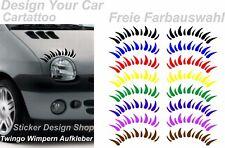 Twingo Wimpern Autoaufkleber Stiker Tuning Aufkleber Auto Beetle Mini Lupo Clio.