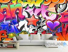 3D Graffiti Letters Star Wall Murals Paper Art Print Decals Decor