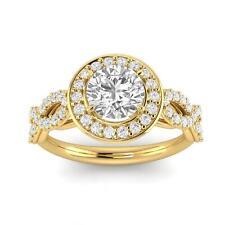 in 14k Yellow Gold (H-I, I2-I3) 1.00 Carat Tw Diamond Infinity Engagement Ring