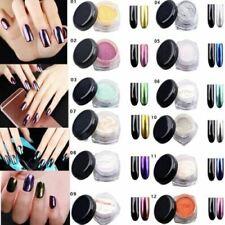 20 Colors Glitter Magic Mirror Effect  Pigment Dust Shimmer Nail Art Powder 3g