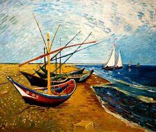 Van Gogh - Fischerboote - Leinwandbild auf Keilrahmen