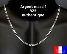 chaine pour homme en argent massif 925 poinçonné maille gourmette epaisse neuve