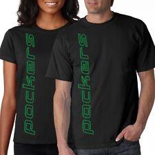 NEW Packers VERT SHIRT T-shirt Black L XL 2X 3X 4X 5X Green Bay Men's Ladies'
