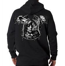 Wolf Spirit Dream Catcher Native American Indian Chief Hooded Sweatshirt Hoodie