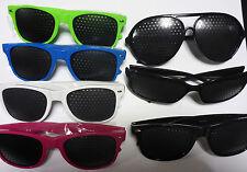 Pinhole Glasses Stenopeic Eye Health Wayfarer Aviators Wraparound Anti Fatigue