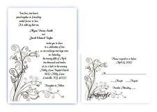 100 Personalized Custom Spring Floral Vintage Bridal Wedding Invitations Set