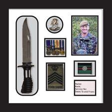 Yorkshire Regiment Medal Frame, cap badge and beret cap war medal display frame