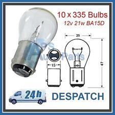10x 335 12 V 21 W SBC BA15d Lampadina Freno Indicatore posteriore per nebbia retromarcia auto furgone