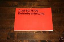 Betriebsanleitung Audi 60 / 75 / Super 90, Ausgabe 1971