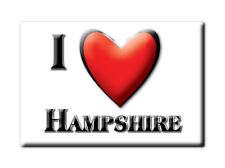 SOUVENIR UK - ENGLAND FRIDGE MAGNET UNITED KINGDOM I LOVE HAMPSHIRE