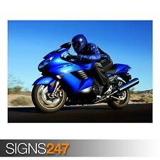 KAWASAKI MOTORCYCLE (AC512) BIKE POSTER - Photo Poster Print Art A0 A1 A2 A3 A4