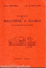 Breglia – De Felice ; ELEMENTI DI MACCHINE A FLUIDO ; Liguori Ed. 1965