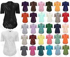 Womens Knit Sheer Autumn Fashion Shrug Lightweight Cropped Sleeve Cardigan Top