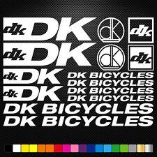 DK Bicycles 14 Stickers Autocollants Adhésifs - Vtt Velo Mountain Bike Freeride
