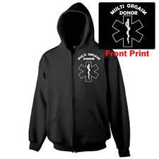 Hooded Zipper Gildan Heavy Sweat, Black, Multi Orgasm Donor, Emergence Only!