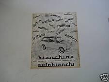 advertising Pubblicità 1963 AUTOBIANCHI BIANCHINA