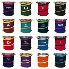 NFL Team Logo 3-in-1 Collapsible Beverage Cooler, Trash Can or Hamper - FREE S/H