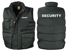 SECURITY Bodywarmer Printed Black WorkWear Doorman Bodyguard Bouncer S-3XL