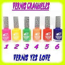 VERNIS CRAQUELE YES LOVE NAIL ART EFFET CRACKLE 6 COULEURS AU CHOIX 15 ML