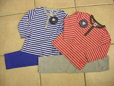 Schlafanzug , Ringel von Petit Bateau, hellgrau/rot oder hellgrau/royal   NEU!!!