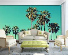 3D Vert Cocotiers 9 Photo Papier Peint en Autocollant Murale Plafond Chambre Art
