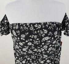 Mossimo Dress Long Top Sz Small Med XL XXL Black Floral Off Shoulder Ruffle Hem