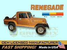 1985 1986 Jeep Scrambler Renegade CJ8 Decals & Stripes Kit