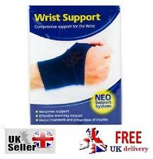 Neoprene Wrist Support Gym Sports Arthritis Boxing MMA Muay Thai Blue Protection