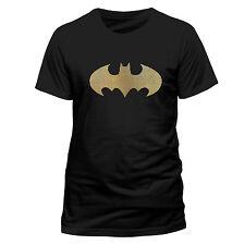 batman pipistrello logo Tri Colore a pois UFFICIALE T-SHIRT NERA Unisex -